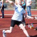 Tobias Brömel beim Ballwerfen