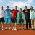 Die Finalisten der Vereinsmeisterschaften im Herren-Doppel