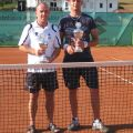 Die Endspielteilnehmer des Herren-Einzel Ewald Keller und Manuel Miksch