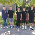Die U14 Junioren - Paul Dittes, Patrick Krüger, Max Dörich und Alex Hertle